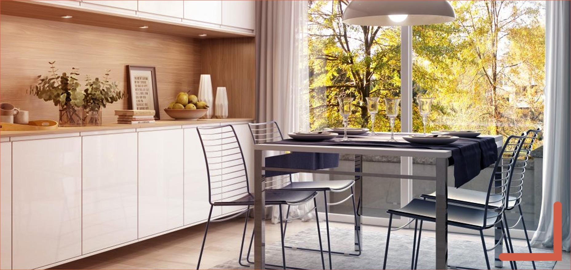 Sala de jantar com móveis da marca Italínea